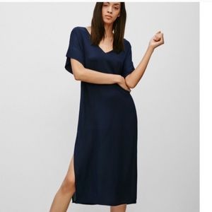 Babaton Sheer Maxi T-shirt Dress